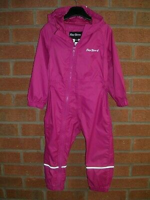 PETER STORM Girls Pink Hooded Puddle Suit Rain Jacket Age 18-24m