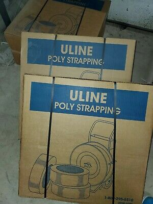 uline STRAPPING Poly Strap Banding Roll Supply Set  7200 black 。only 6 left