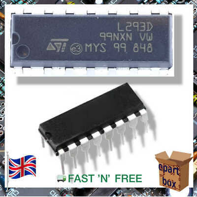 L293D Motor Motion Ignition Controller Driver Push Pull 4-Channel IC  DIP16