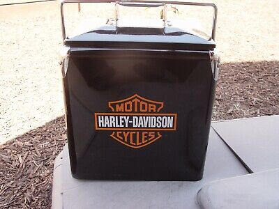 Great Retro Products HARLEY DAVIDSON Motorcycles Metal Ice Chest Picnic Cooler