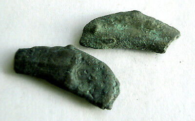 3966_7. Antique proto-coin two pieces Olbia. Coins of Temple of Apollo-doctor