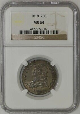 1818 Capped Bust Quarter 25c MS64 NGC 942543-20