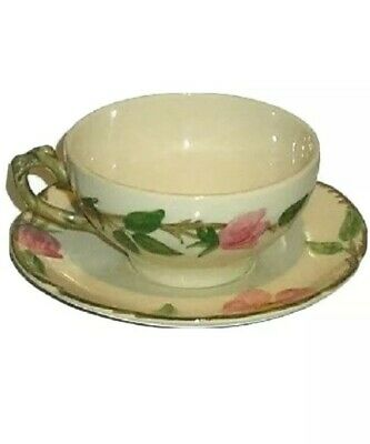 Franciscan Desert Rose Coffee Tea Cup and Saucer, Made in U.S.A. Spring Preowned