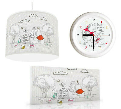 CLASSIC WINNIE THE POOH - Light Shade , Wall Art, Wall Clock or Bundle
