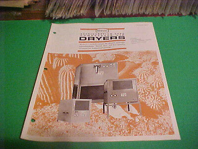 1970 Sweets Equipment Catalog Brochure Scovill Refrigeration Air Dryers