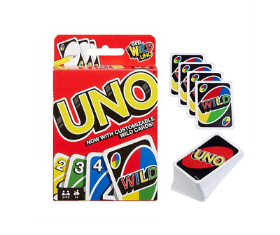 UNO Wild Card Customizable Game 112 Cards Game For Kids & Family Party Fun Play