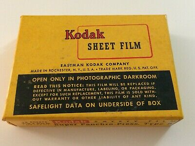 Kodak Super Panchro Press Film Type B Sheet Film - 2-1/4 x 3-1/4 - sealed box