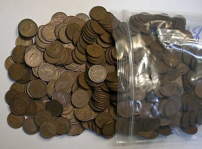 500 Coin Lot KING GEORGE VI Canada 1937 to 1952 Small Cents KM-32 & KM-41