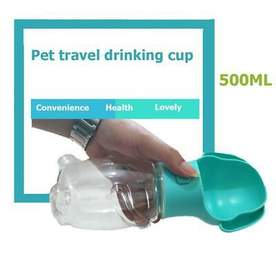 500ml Portable Pet Dog Water Bottle Folding Travel Outdoor Cat Feeding Drink Cup