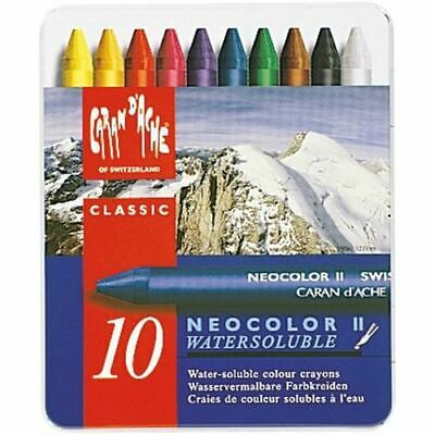 Caran Dache Neocolor Ii Pastels 10 Colour Metal Box Set