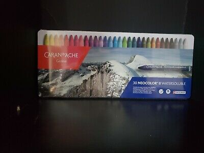 Caran Dache Neocolor Ii Pastel 30 Colour Metal Box Set