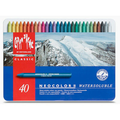 Caran Dache Neocolor Ii Pastel 40 Colour Metal Box Set