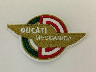 2 PATCH TOPPE DUCATI MECCANICA RICAMATE TERMOADESIVE  embroidered logo patch