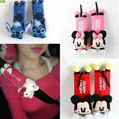 1 Pair cute Cartoon Car Safety Seat Belt cover Child Shoulder Pads Protection