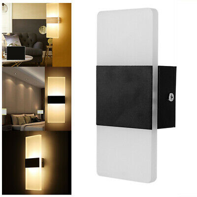 1xLED Wall Light-up Down Cube Indoor Outdoor Sconce Lighting Lamp Fixture Decor