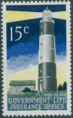 New Zealand Life Insurance 1969 SGL62 15c Lighthouse MNH