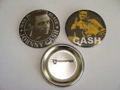 Badges 56Mm  Johnny Cash Lot De 2