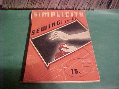 1937 Vintage Simplicity Sewing Book Instruction Manual