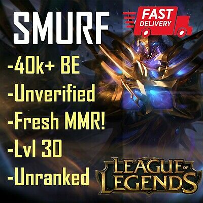 NA League of Legends LOL Account Smurf 40k+ BE Unranked Level 30 🔥FULL ACCESS🔥
