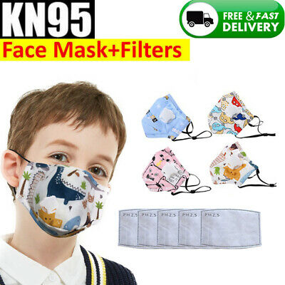 Kids Children Mask Breathable Face Mouth Mask With Filters UK