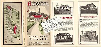 Chicago Antique 1910 Advertisement Map: Villa Park - Ardmore Acres, DuPage Co.