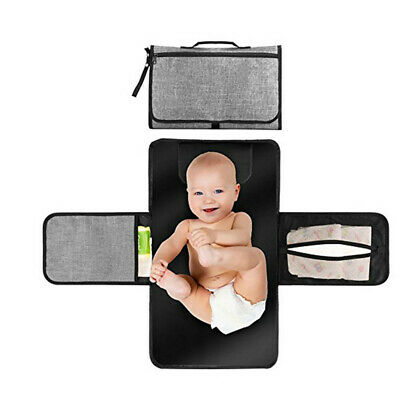 Baby Diaper Changing Mat Foldable Portable Nappy Pad Changing Clutch Waterproof