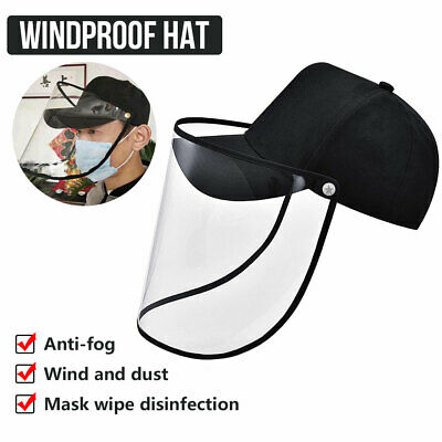 Anti Saliva Dustproof Baseball Hat Full Face Cover Protective Cap Shield Unisex