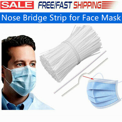 100pcs Nose Bridge Wire Strip for Face Mask DIY Craft Making Accessories