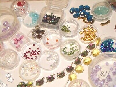 Huge Swarovski Crystal & Czech Beads 500 Jewelry Making Stunning 2-10mm, Crafts