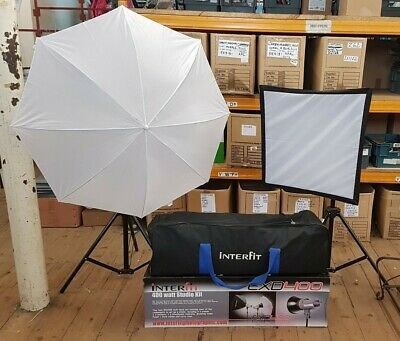 Interfit EXD400 Studio Flash Kit with Softbox and Brolly