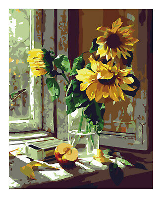 Paint by Numbers Kits for Adults Arylic Painting by Number On Canvas DIY flowers