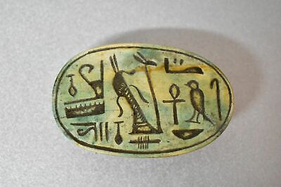 Rare ancient egyptian antique large stone scarab 1550-1069 bc j
