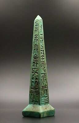 Ancient Egypt Egyptian Antiques Luxor Obelisk Hieroglyphics Carved Stone Bc