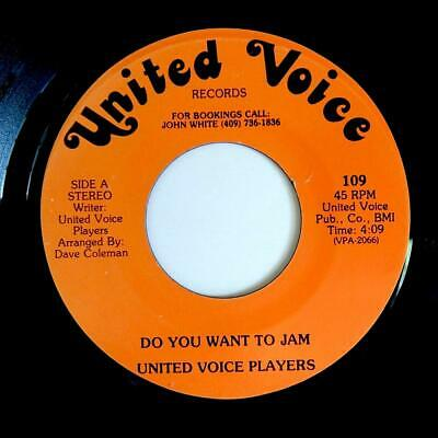 """UNITED VOICE PLAYERS """"Do You Want To Jam"""" PRIVATE BOOGIE FUNK 7"""""""