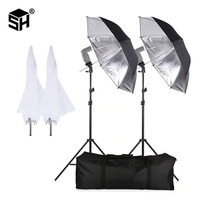 Sh Flash Shoemount Swivel Soft Umbrella Kit For Photography With Light Stand And