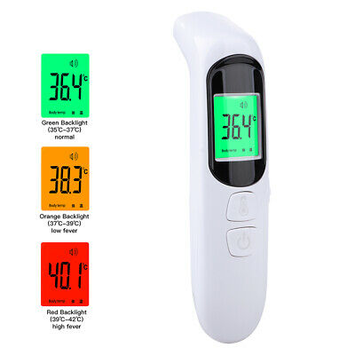 IR Infrared Digital Forehead Fever Body Thermometer Non-Contact Baby Adult LCD
