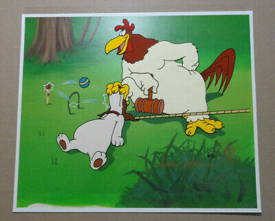"FOGHORN LEGHORN ""Let's Play Croquet"" LIMITED EDITION ANIMATION CEL, SP 6/8 COA"
