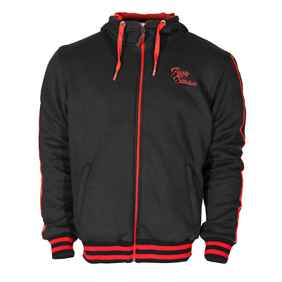 Rusty Stitches Motorrad Hoodie schwarz rot Gr. XXXL made with DuPont™ Kevlar®