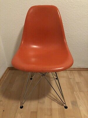 Herman Miller / Wales Fiberglas Chair Orange Vitra Original Plastic Eiffelturm