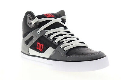 DC Pure High Top WC ADYS400043 Mens Black Leather Lace Up Athletic Skate Shoes