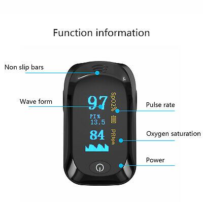 Fingertip pulse SpO2 Oximeter Blood Oxygen Saturation Meter Finger PR Monitor AA