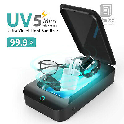 UV Light Sterilizer Box Cell Phone Sanitizer Multifunction Disinfection Case