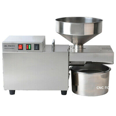 110V Commercial Automatic Oil Press Machine Stainless Steel Oil Presser 6-10kg/h