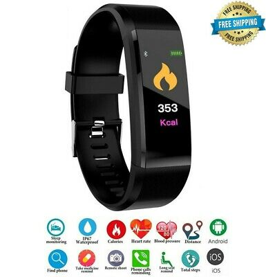 Smart Watch Fitness Tracker Fit Bluetooth Step Caolorie Sport Android iPhone