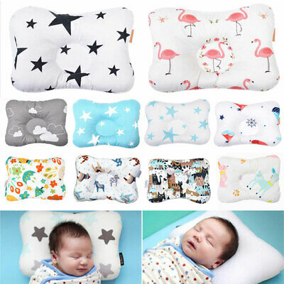 Newborn Baby Infant Cotton Pillow Positioner Prevent Flat Head Anti Roll Home