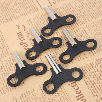 5Pcs Clock Key Wood Clock Repair Tool Wall Clock Steel Winding Key Accessories