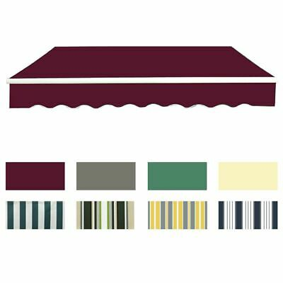 Garden Patio Manual Awning Replacement Sun Shade Shelter Canopy Fabric 8 Colour