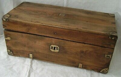 Brass Bound Antique Elm Chest