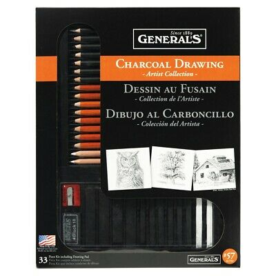 General's Charcoal Drawing Artist Collection