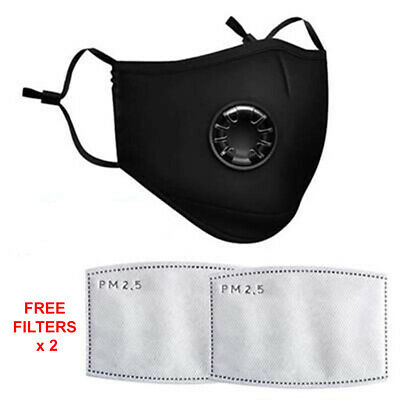 Anti Pollution Particle PM2.5 Reusable Face Mask with 2 FREE Carbon Filters